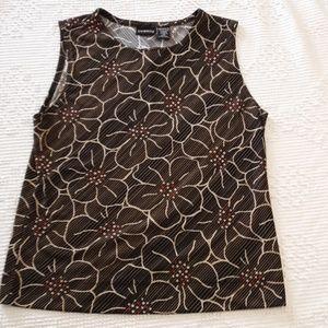 George sleeveless floral top